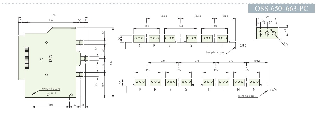 Thiết bị ATS 4 pha ATS Osung OSS-610-PC - 1000A (ATS 4P 1000A)